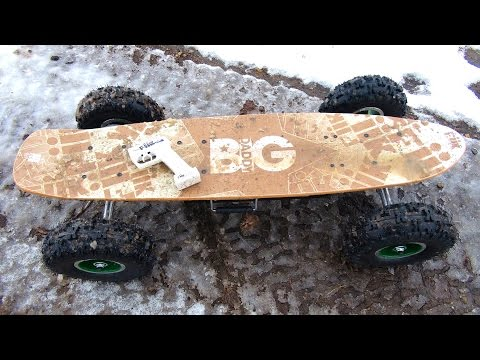 RC ADVENTURES - FiRST RUN - Snow & ICE - FiiK BiG DADDY RC Electric Offroad Skateboard