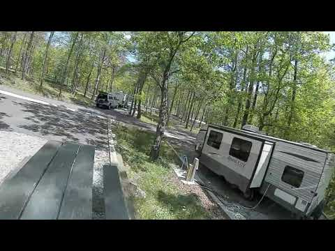 Drone fly through of the lower RV campground including site numbers.......should be helpful for picking sites.