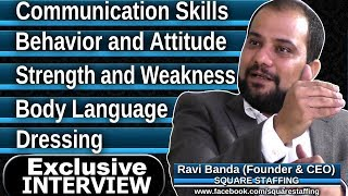 Top Interview Questions and Answers : Interview Tips in TELUGU | Exclusive interview with Ravi Banda