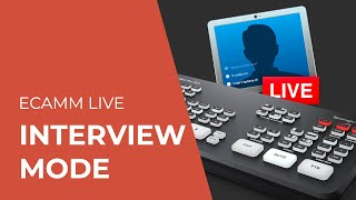 How to livestream a REMOTE GUEST interview with eCamm Live and the ATEM Mini