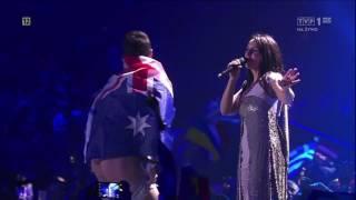 Евровидение 2017 - австралиец выскочил на сцену