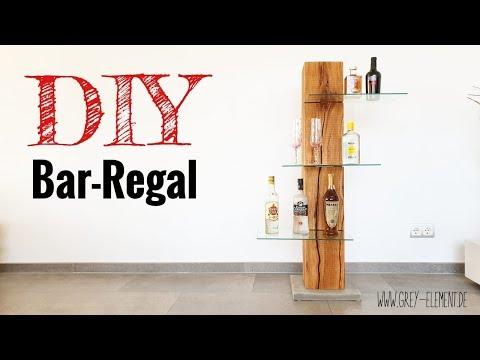 Regal / Bar aus Altholz selber bauen/ Holzbalken / DIY Möbel