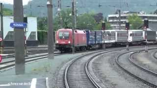 preview picture of video 'Trains at Kufstein bahnhof 12 august 2014'