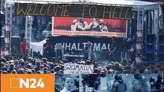 """N24 Nachrichten - G20 in Hamburg: """"Welcome to Hell""""-Demo ist auf dem Weg"""