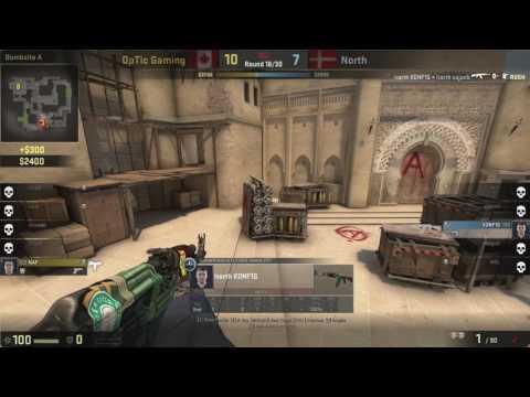 North k0nfig 3K ECO 1v2 vs Optic Gaming Mirage @ ESL PRO LEAGUE 5 FINALS