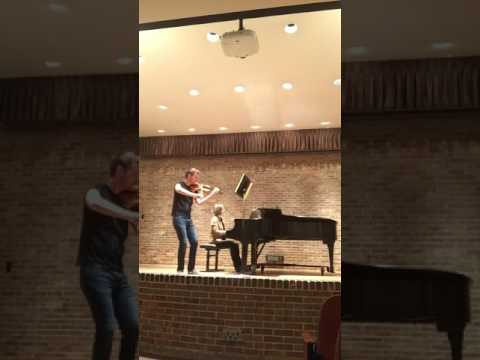 A clip of the exposition (+) of the Brahms Violin Sonata No. 1 in G Major, Mvt. I from my studio class.