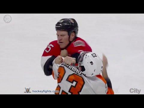 Chris Neil vs. Brandon Manning