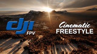 Winter Wonderland Sunset DJI FPV Cinematic FREESTYLE
