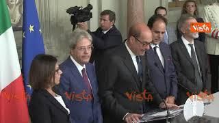 La delegazione del PD al Quirinale. La dichiarazione di Zingaretti