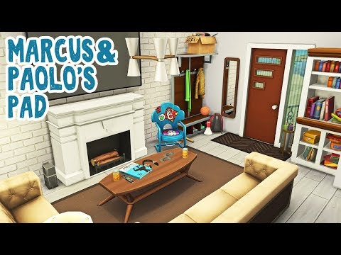 Marcus & Paolo's Pad || The Sims 4 Windenburg Townhouses: Speed Build #3