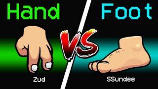 NEW Among Us HAND VS FOOT ROLE?! (Meme Mod)