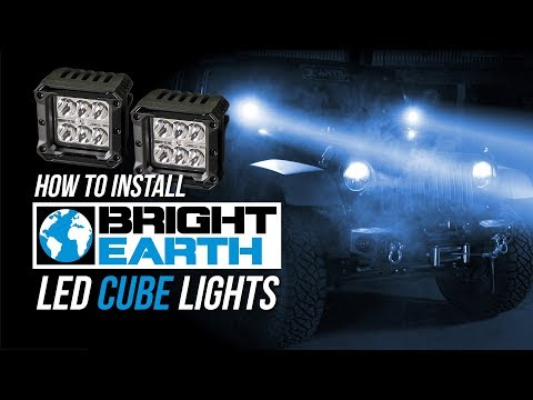 Jeep JK and TJ Wrangler Bright Earth LED Cube Light Install