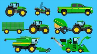 Farm Vehicles - Learn Farm Tractors, Harvesters, Trucks & More - Organic Learning