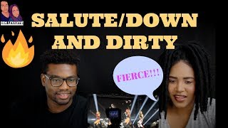 Little Mix- Salute/Down and Dirty Mashup Live In Denmark| REACTION