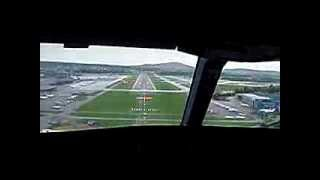 preview picture of video 'SWISS A340-300 Cockpit Jumpseat Arrival in Zürich Kloten LSZH28'