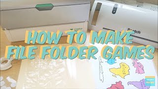 How To Make File Folder Games