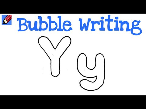 How to draw the letter m in bubble letters? (with pictures