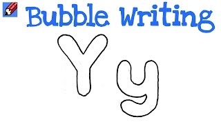 How to Draw Bubble Writing Real Easy Letter P Кино дРя всей семьи