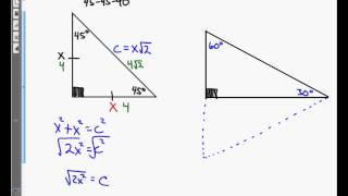 Precalculus Unit 5.1 Notes Review Of Special Right Triangles