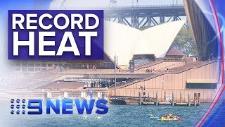 Hottest day on record in Sydney | Nine News Australia