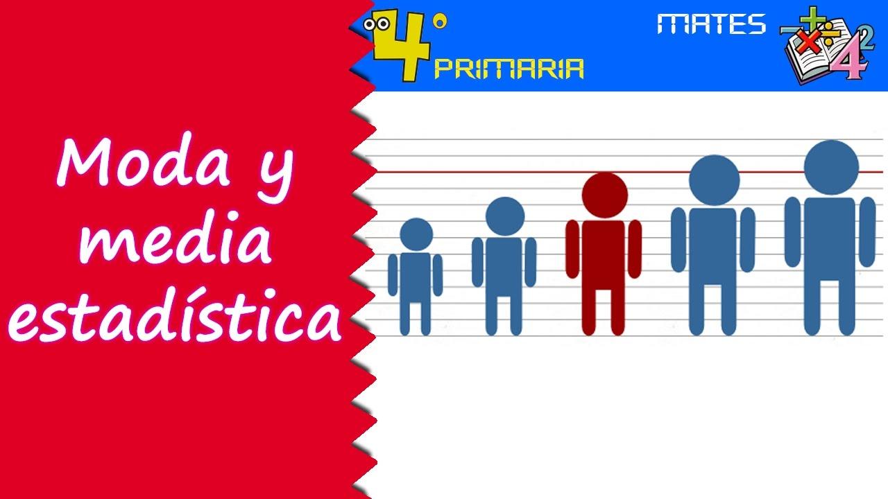 Matemáticas. 4º Primaria. Tema 8. Moda y media