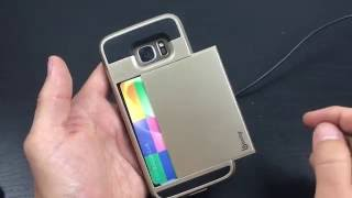 Galaxy S7 Case with Hidden Credit Card Compartment (Hide Cash, Drivers License, Business Card, etc)