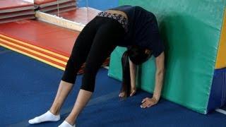 Back Walkover Drills   Gymnastics Lessons