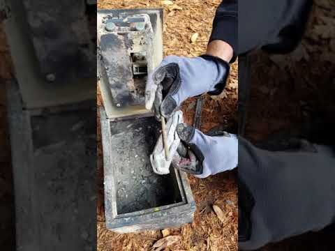 Breaking into my gun safe after our house burned down.