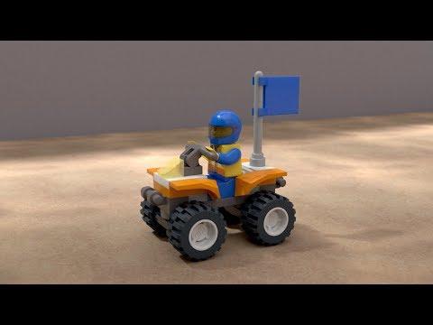 Vidéo LEGO City 7736 : Le quad des gardes-côtes