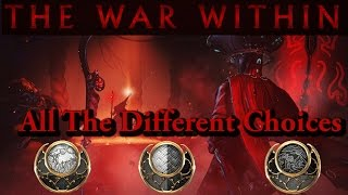 Warframe | The War Within | All The Different Choices (Sun/Neutral/Moon).
