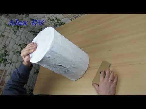 Sitzhocker aus recycling Pappe selber machen .