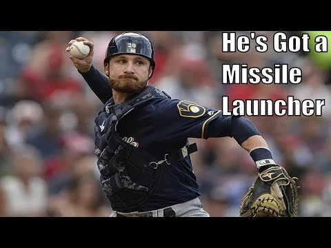 Jonathan Lucroy Showing Off His Arm