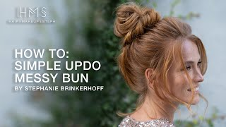 HOW TO: Simple Updo | Messy Bun By Stephanie Brinkerhoff | Kenra Professional