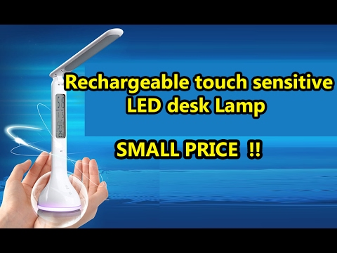 Unboxing & Review Rechargeable Touch Senstive LED Desk Lamp