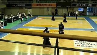 2019 단별검도대회 남자 6단부 16강 - 김민규 vs 유민
