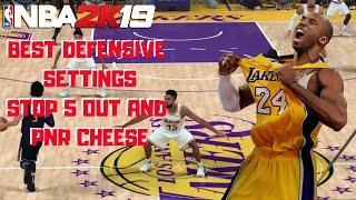 2K19 MYTEAM - BEST DEFENSIVE SETTINGS STOP 5 OUT AND PNR CHEESE