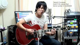 Why Don't We Do It In The Road The Beatles 古澤剛 Guild F-50 custom Red ギルド F50