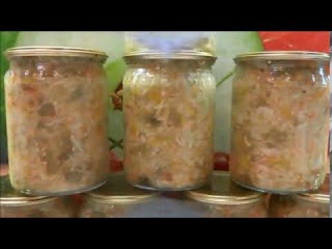 Вкусный Салат из Баклажан и Капусты на зиму.