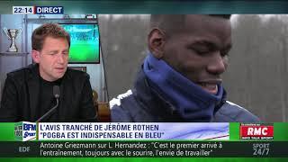 After Foot du mercredi 21/03 – Partie 1/6 - L'avis tranché de Jérôme Rothen sur Pogba