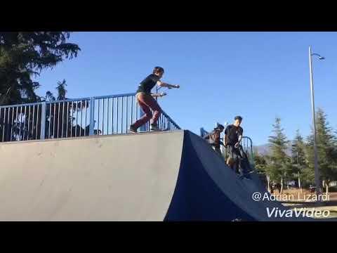 Banning skatepark big half pipe video🔥