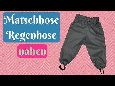 Matschhose/ Regenhose für Kinder nähen-Schritt für Schritt Nähanleitung + kostenlosem Schnittmuster