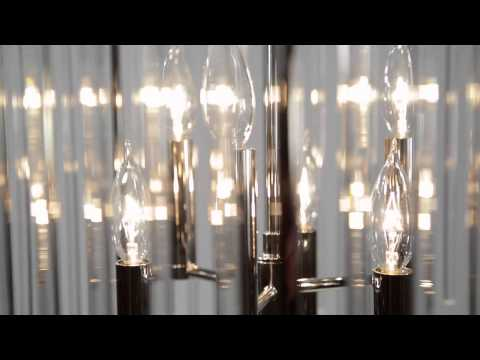 Video for Lewis Aged Brass Four-Light Flushmount