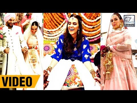 Inside Video : Neha Dhupia And Angad Bedi Full Wedding & Mehendi Ceremony | LehrenTV