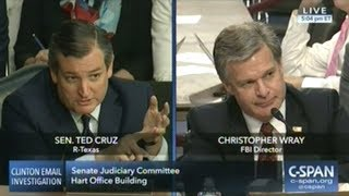 Ted Cruz Grills FBI Director At Hearing On Hillary Clinton Email Investigation