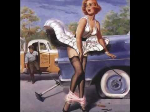 Pin-Up kaarten, Classic Pin Up and erotic art montage We do not..