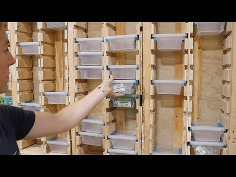 Organize Your Hardware! In the Wall Hardware Storage