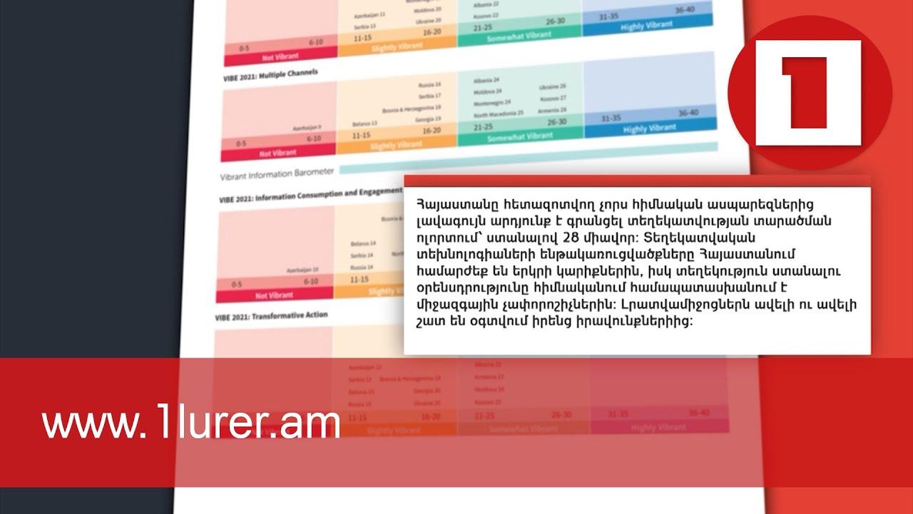 Հայաստանը կայուն տեղեկատվական համակարգ ունեցող երկրների խմբում է. IREX-ի զեկույց