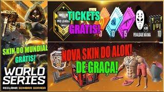 Nova Skin do Mundial e Nova Skin do Alok de Graça, Novo Cubo Mágico, Tickets de Graça e MAIS