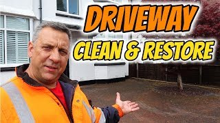 Pressure washing driveway cleaning and restoration