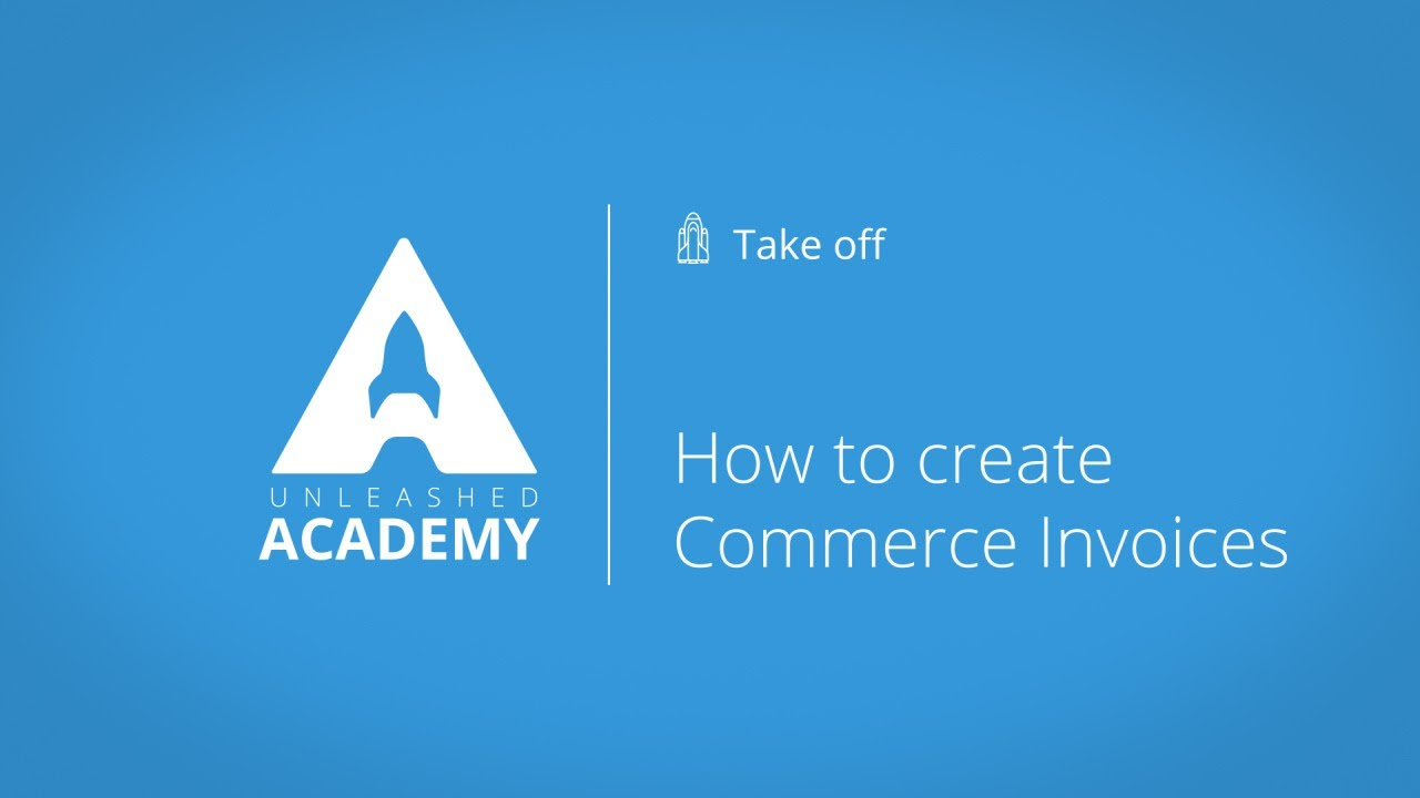 How to create Commercial Invoices YouTube thumbnail image